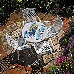 Outdoor Lazy Susan Anna Round 4 Seater Dining Set