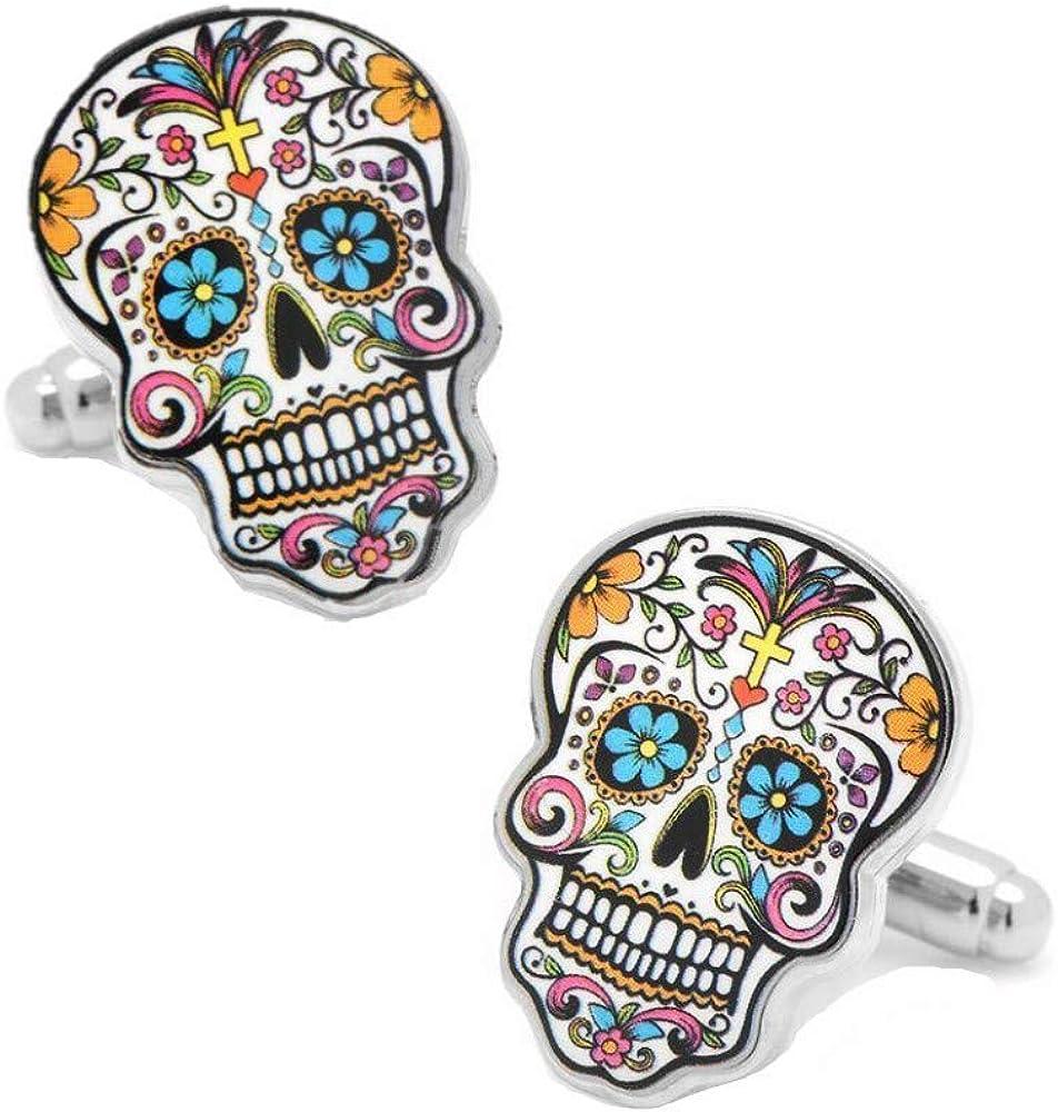 Dia Le Los Muertos Sugar Skull Cuff Links - Day Of The Dead