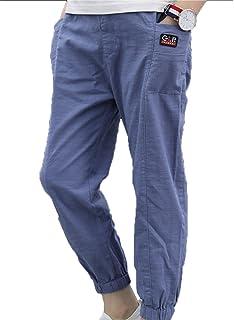 [もうほうきょう]ボーイズパンツ2018夏の新生児の男の子の綿のソリッドカラーの9ズボンのカジュアルパンツ