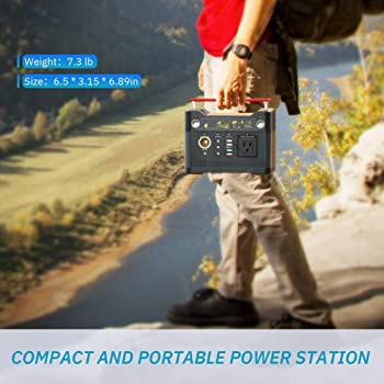ROCKPALS 300W Portable Power Station, 280Wh CPAP Backup Battery Pack UPS Power Supply 110V Pure Sine Wave AC Outlet, ...