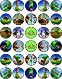 30 x Edible Cupcake Toppers Themed of The Good Dinosaur Collection of Edible Cake Decorations | Uncut Edible on Wafer Sheet