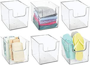mDesign Plastic Open Front Closet Home Storage Organizer Bin Box Container - for Bedroom, Cube Furniture Shelving Units - ...