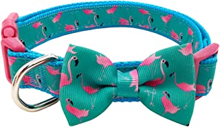 azuza Bowtie Dog Collars, Stylish and Comfy Dog Collars with Bowtie for Small, Medium and Large Dogs, 2 Patterns