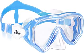 Seago Kids Snorkel Mask Swim Diving Mask Goggles for Youth, Anti-Fog 180° Clear View