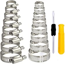 HO2NLE 36Pcs Abrazaderas Metalicas para Tubos Abrazadera de Manguera Ajustable deAceroInoxidable Bridas Metalicas 8-51mm Clip Tubo para Tuberías de Agua Familiar,Tubos de Automóviles, etc