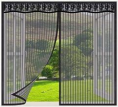 Vliegengaas voor ramen, Zwart_160x225cm, magnetisch vliegengaas voor deur, zelfdichtende magnetische hordeur, insectengaas...