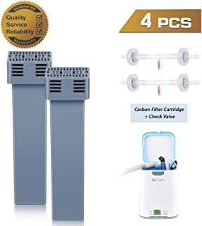 Upgraded Cartridge Filter Kit for SoClean 2, CPAP Filter Replacement Includes 2 Cartridge Filter and 2 Check Valve, Sealed Package, Better Raw Materials Yet Lower Price and Longer Life!