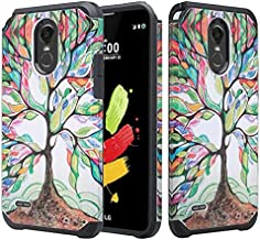 LG Stylo 3 Case, LG Stylo 3 Plus Case [Shockproof] Hybrid Drop Protection Dual Layer Defender Protective Case Cover for Stylo 3/Stylo3 Plus - Colorful Tree