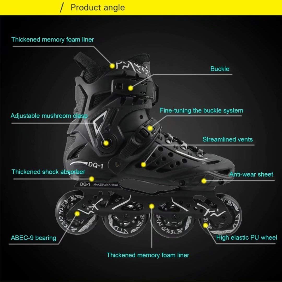 Patins /à roulettes Patins /à roulettes Rollerblades Freestyle Confortables pour Femmes et Adolescents Patins /à Roues align/ées Noirs Professionnels en Plein air pour Adultes