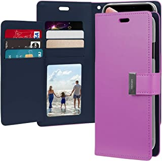 Goospery Rich Wallet for Apple iPhone Xs Max Case (2018) Extra Card Slots Leather Flip Cover (Purple) IPXSP-RIC-PPL