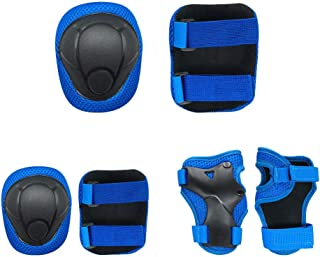 Uspacific 6 Kit Kids Knee Pads Elbow Pads Toddler Guards Protective Gear for Hiking Camping Ball Games Cycling Snow Sports Scooter Rollerblading Outdoo Sports