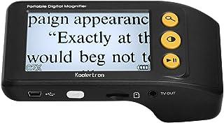Koolertron Digital Video Magnifier, 3.5 Zoll Handportable Mobile Elektronische Lesehilfe Leselupen für sehbehinderte, Senioren, Makuladegeneration, Menschen mit hoher KurzsichtigkeitSchwarz