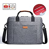 KALIDI Laptop Bag, 15.6 Inch Laptop Briefcase Messenger Bag for Dell Alienware/MacBook/Lenovo/HP, Travelling, Business, College and Office(Gray), 15.6'