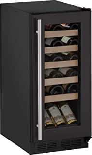U-Line U1215WCINT00A Wine Captain 1000 Series 15-Inch Undercounter Wine Storage 24-Bottle Capacity, Natural Beechwood, Led Lighting