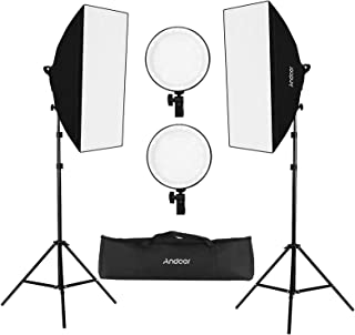 Andoer Studio Photography Softbox LED Light Kit Including 20 * 28 Inches Softboxes