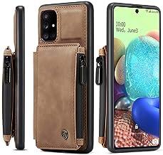 Samsung Galaxy S21 Ultra 5G plånboksfodral, multifunktionellt läder magnetiskt avtagbart blixtlås folio fodral handledsrem...