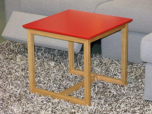 Wood & Solutions shop Table basse de salon moderne design bureau chambre bois chêne rouge