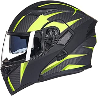 XIAOLAOBIAO Flip Up Motorcycle Helmet Double Lense Full Face Helmet with Inner Sun Visor Can Put Bluetooth Headset