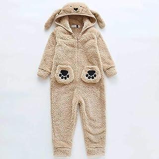 LLSS Pijamas para niños Pijama para niños Pijama de una Pieza de Dibujos Animados Unisex Cálido Invierno Primavera Pijamas...