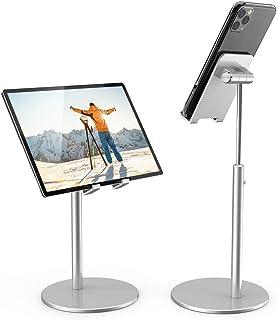 KAERSI iPadタブレットホルダースタンド 高さ角度調節可能 デスクトップ携帯電話スタンド アルミニウム iPhone iPad Pro 11 9.7 10.5 Air Mini 4 3 2 Nexus Tab Kindle 電子書籍リー...
