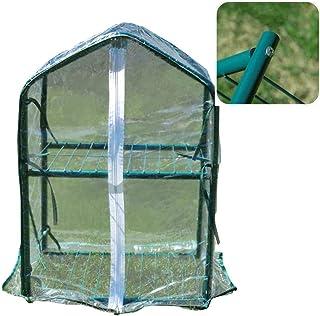 Greenhouse 2 Layer Mini Succulents Rain Cover Stable Antifreeze Zipper Breathable Small Greenhouse, PVC (Color : 8pcs, Siz...