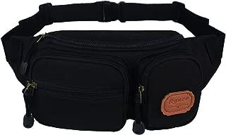 Ryaco Canvas Fanny Pack, Waist Pack, Waist Bag, Bum Bag, Workout Belt, Running Belt, Race Belt, Runner Belt, Workout Pouch for Men/Women