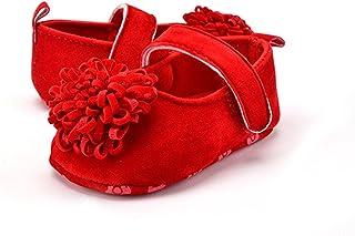 「イノヤ」赤ちゃん靴 歩行練習 女の子/ガール 花結び ピンク ローズ 赤 カーキ 可愛い 履き心地いい 滑り止め 柔らかい マジックテープ式 軽量 屈曲性