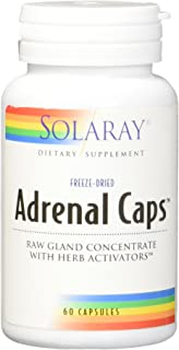 Solaray Adrenal Caps Freeze Dried, Veg Cap (Btl-Plastic) 170mg | 60ct