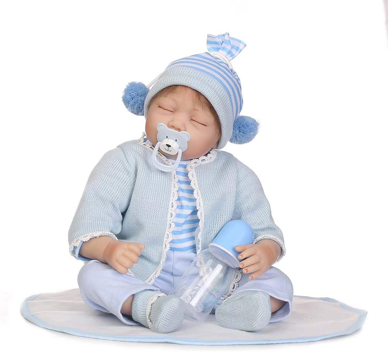 Schlafen Reborn Babypuppe Soft Simulation Silikon Vinyl 22 Zoll 55 cm Magnetischer Mund Lebensechte Boy Girl Toy