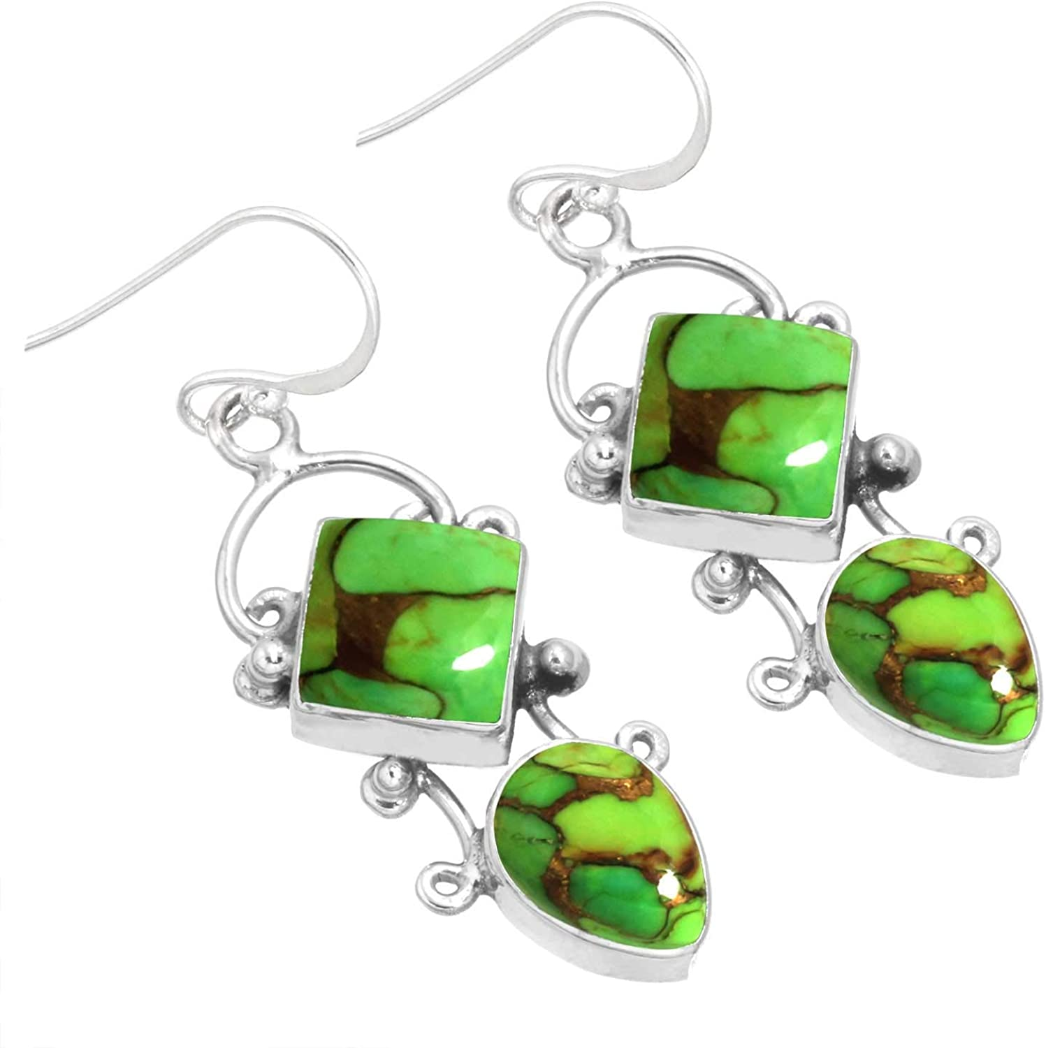 Solid 925 Sterling Silver Gemstone Spasm price 9 Handmade Complete Free Shipping Women Earring For