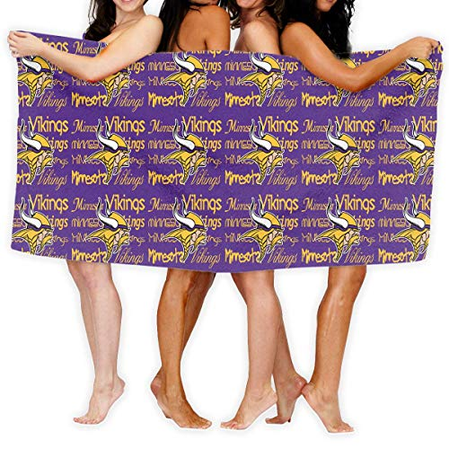 CSD Pillow case Custom Colourful Women's Beach Towel Minnesota Vikings American Football Team Bathroom Body Shower Soft Quick Drying Adult Bath Towel 31x51 Inches