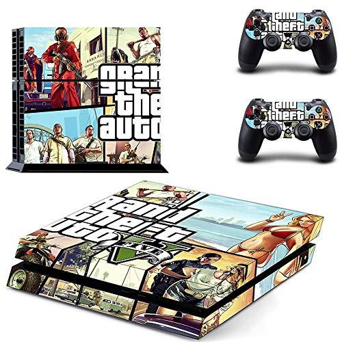 FENGLING Grand Theft Auto V GTA 5 Ps4 Skin Sticker Decalcomanie Cover per Playstation 4 Ps4 Console & Controller Skins Adesivi Vinile
