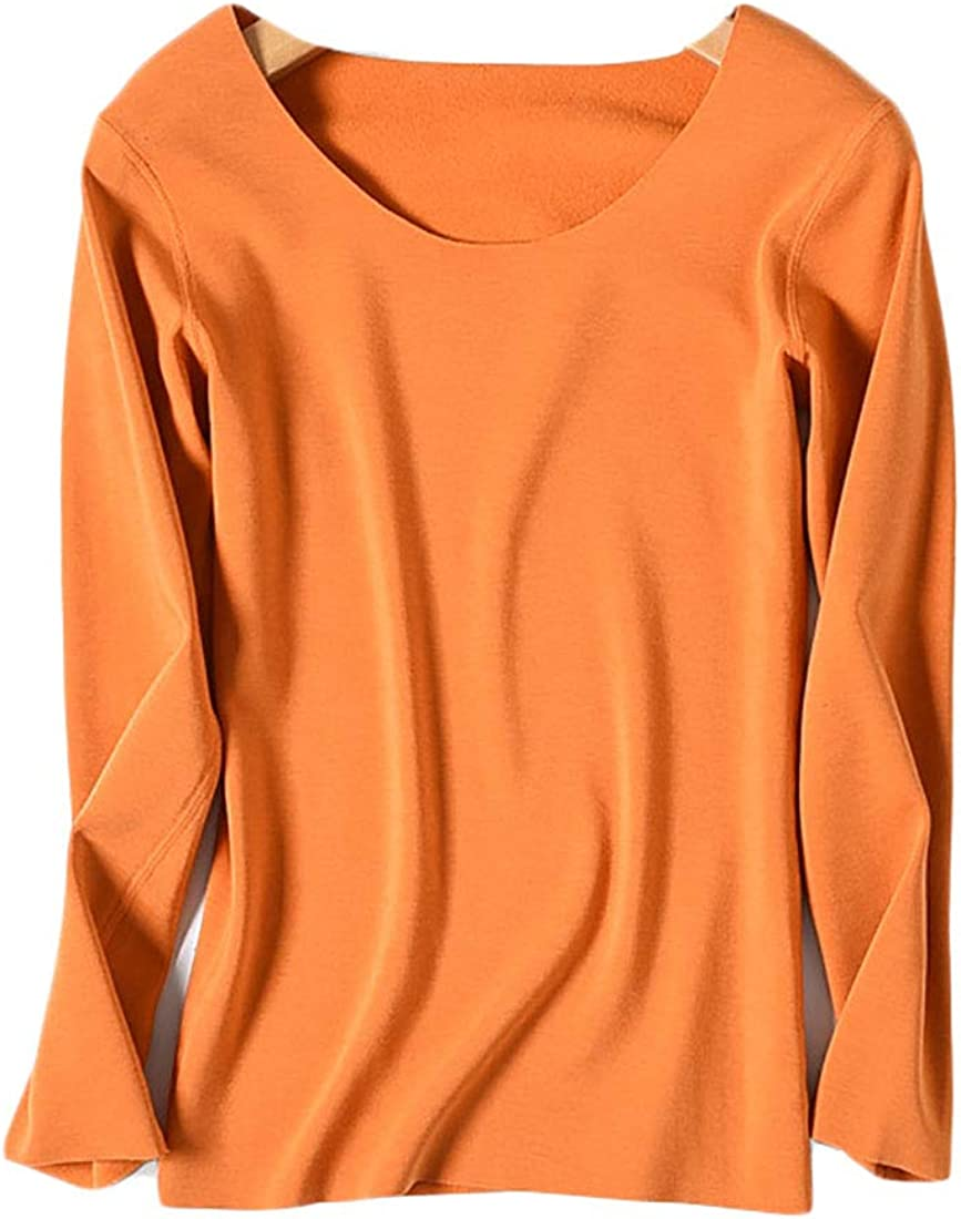 Howriis Women's Crew Neck Thermal Underwear Top Base Layer Long Sleeve Shirt