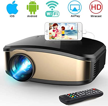 $99 Get Portable Mini LCD Video Projector Full HD 1080P LED Home Theater Projector with HDMI/USB/VGA/AV Input for Smartphones PC Laptop Gaming Devices