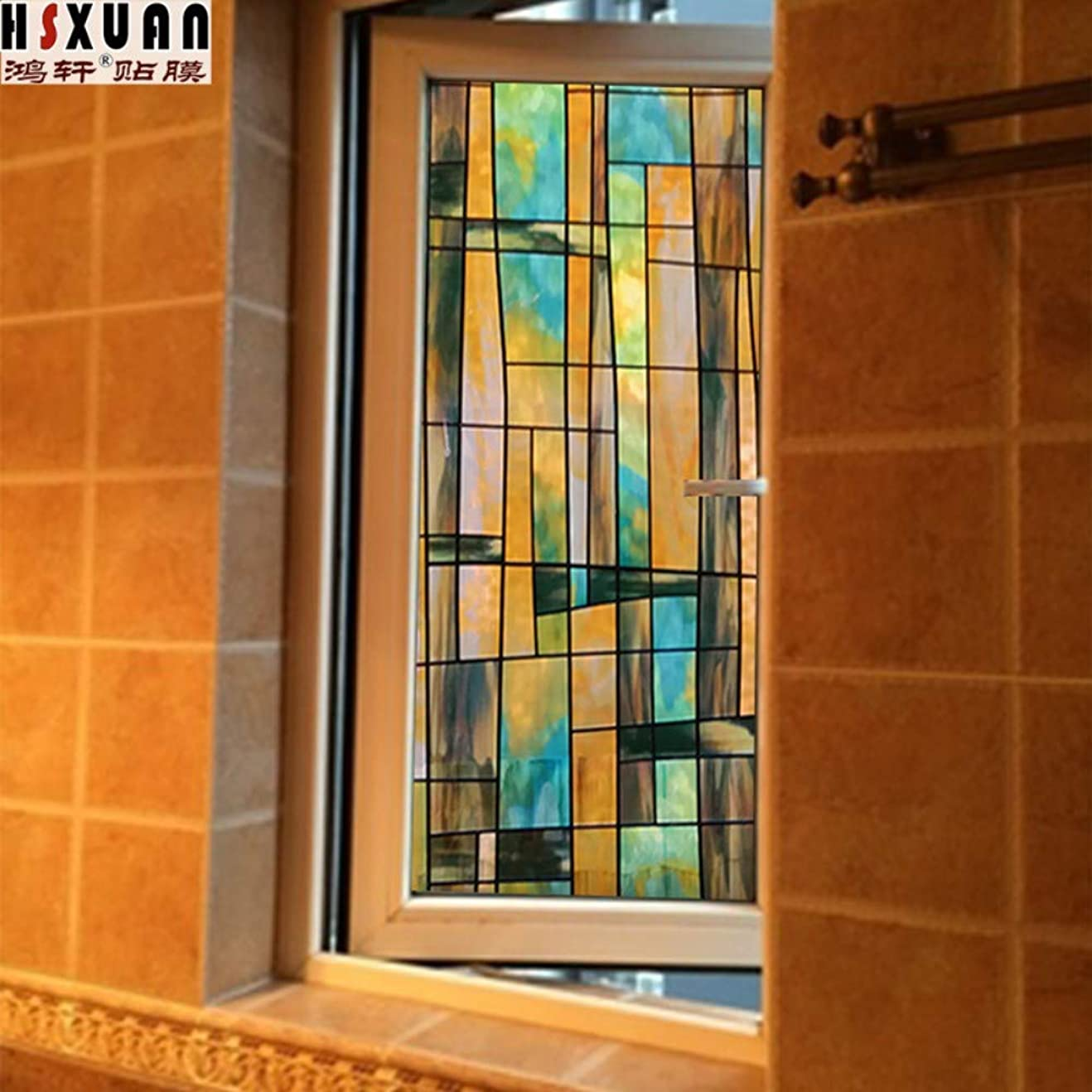エージェント棚恒久的窓のステッカーガラスフィルムの浴室の窓のステッカー曇らされたプライバシーステッカー停電および反射防止