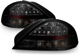 [For 1999-2005 Pontiac Grand AM] VIPMOTOZ Premium LED Tail Light Lamp - Black Housing, Smoke Lens, Driver and Passenger Side