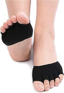 Flammi Women's 5 Pairs Toe Topper Socks Peep Toe Half Toe Socks Cotton