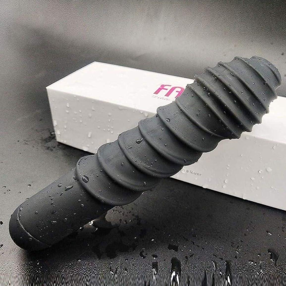 コンプリート膨らませるシリーズプレミアム再利用可能なコードレス手VI-bratingマッサージ (Color : Black)