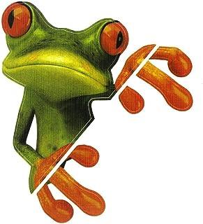 Autoaufkleber   TOOGOO(R) 3D Frosch lustige Auto Aufkleber LKW Aufkleber Fensteraufkleber Grafiken Gruen