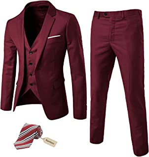 Best burgundy slim fit blazer Reviews