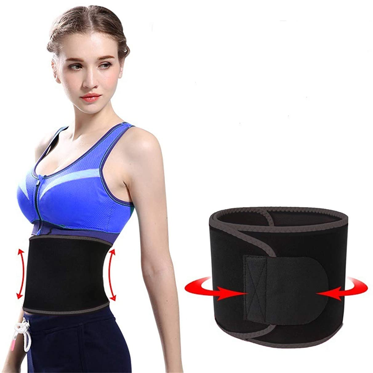 HMBON Sweat Waist Slimmer Waist Trainer,Waist Trimmer Belt for Women & Men Weight Loss,Shape The Waist Curve of The Human Body, 2 Sizes (Length Up to 40''/ 48'')