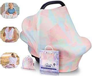 NatureBond Nursing Cover Breastfeeding | Most Breathable and Safest Cotton Cover | Multi Use for Baby Car Seat Covers Cano...