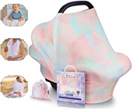 NatureBond Nursing Cover Breastfeeding   Most Breathable Mesh-Fabric Material   Multi Use for Baby Car Seat Covers Canopy ...