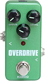 SUPVOX Vintage Overdrive Guitar Effect Pedal Guitarra Overdrive Booster High-Power Tube Overload Guitar Stompbox (Green)