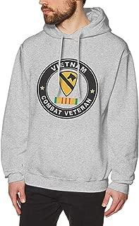MDClothI Men US Army 1st Cavalry Division Vietnam Combat Veteran Fashion Travel Fleeces