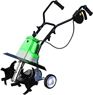 QILIN Electric Tiller, Battery-powered Tiller, Working Depth 22cm, Working Width 40cm, Green(without Battery and Charger)