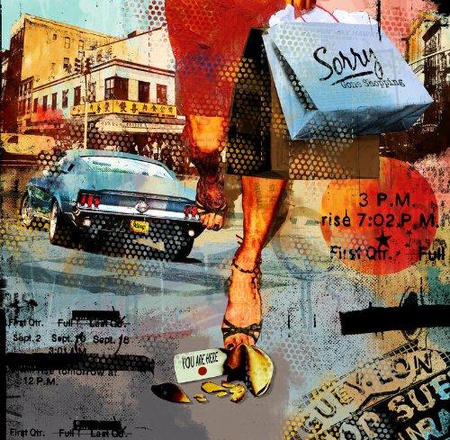 P141801-6 Foto-Vliestapete künstlerisches Shopping-Motiv