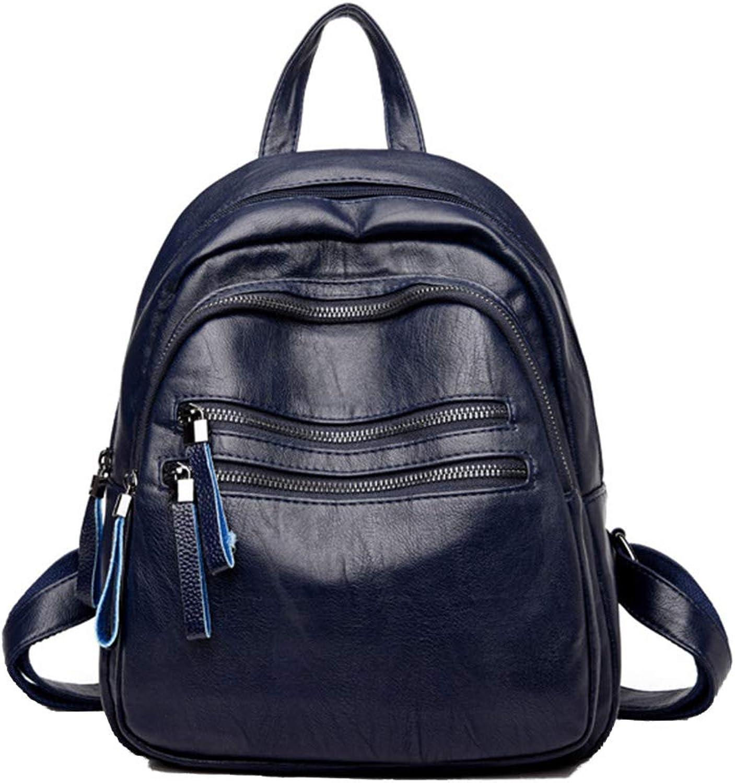 Hemio Multi-Tasche Rucksack Damen Reise Reise Reise Tasche Größe Daypacks Freizeit Reiserucksack Leder Mamma Beutel Schlicht Rucksäcke B07KVYL97M  Qualität zuerst 5dfbb5
