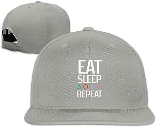 Outdoor Snapback Sandwich Cap Adjustable Baseball Hat Plain Cap Skate Eat Sleep Repeat