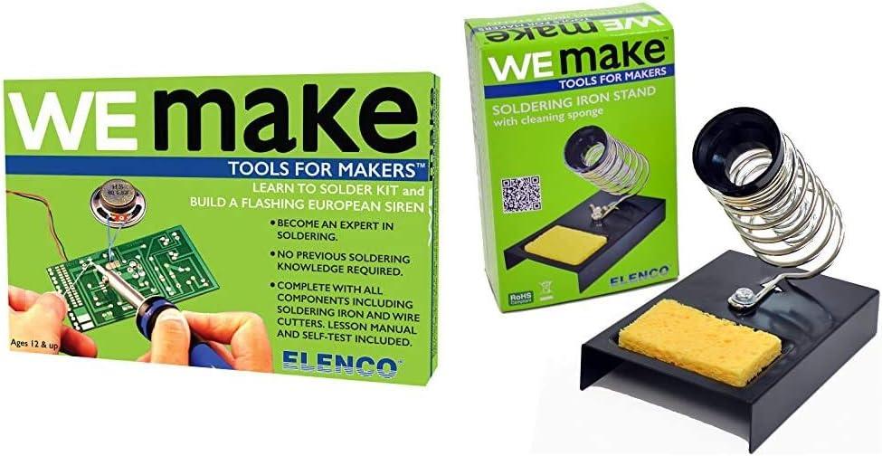 Elenco AmeriKit Learn to Solder New popularity Soldering Holder Iron Kit NEW before selling